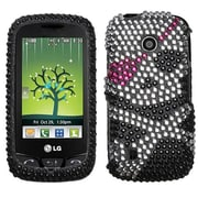Insten® Diamante Protector Cover For LG VN270 Cosmos Touch, Skull