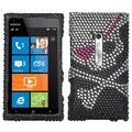 Insten® Diamante Protector Cover For Nokia Lumia 900, Skull