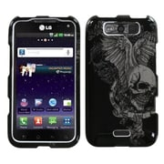 Insten® Protector Cover For LG MS840 Connect 4G/LS840 Viper, Skull Wing