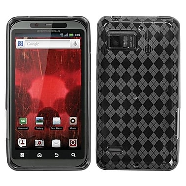 Insten® Argyle Candy Skin Cover For Motorola XT875 Droid Bionic, Smoke Pane