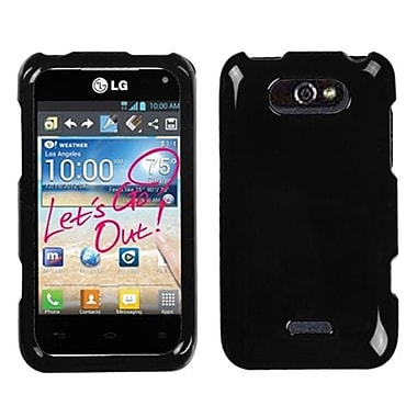 Insten® Protector Case For LG MS770 Motion 4G, Solid Black