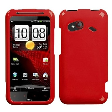Insten® Protector Cover For HTC Incredible 4G, Solid Flaming Red