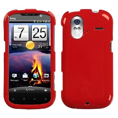 Insten® Protector Case For HTC Amaze 4G, Solid Flaming Red