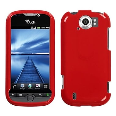 Insten® Protector Case For HTC myTouch 4G Slide, Solid Flaming Red