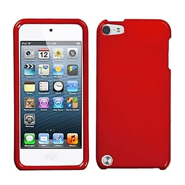 Insten® Phone Protector Case For iPod Touch 5th Gen, Solid Flaming Red