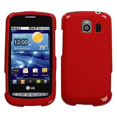 Insten® Protector Cover For LG VS660 Vortex, Solid Flaming Red