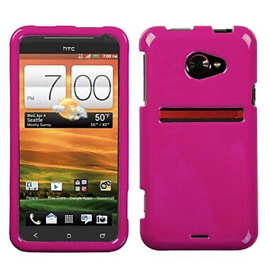 Insten® Protector Case For HTC EVO 4G LTE, Solid Hot-Pink