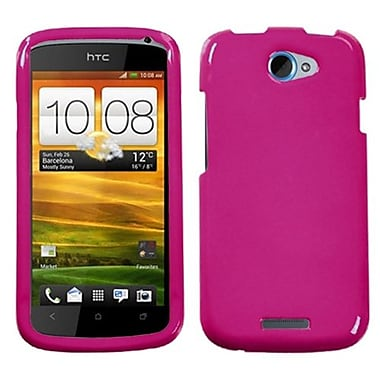 Insten® Protector Case For HTC-One S, Solid Hot-Pink