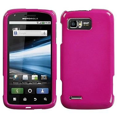 Insten® Protector Case For Motorola MB865 Atrix 2, Solid Hot-Pink