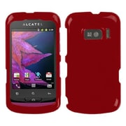 Insten® Phone Protector Case For Alcatel 918 One Touch, Solid Red