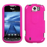 Insten® Protector Case For HTC myTouch 4G Slide, Solid Shocking Pink