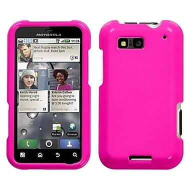 Insten® Protector Case For Motorola MB525 Defy, Solid Shocking Pink