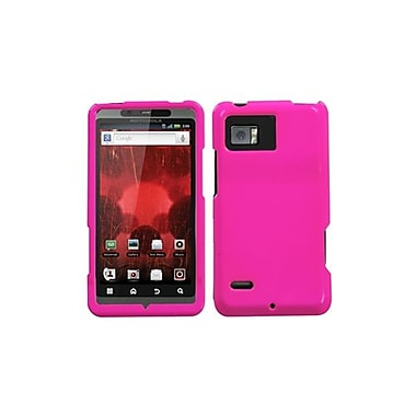 Insten® Protector Case For Motorola XT875 Droid Bionic, Solid Shocking Pink