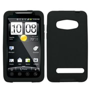 Insten® Skin Cover For HTC EVO 4G, Solid Black