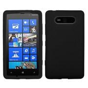 Insten® Skin Case For Nokia Lumia 820, Solid Black