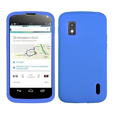 Insten® Skin Case For LG E960 Nexus 4, Solid Dark Blue