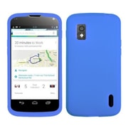 Insten® Skin Case For LG E960 Nexus 4, Solid Dark Blue