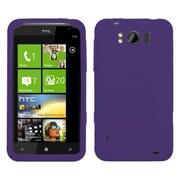 Insten® Skin Cover For HTC X310a Titan, Solid Dark Purple