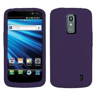 Insten® Skin Cover For LG P930 Nitro HD, Solid Dark Purple