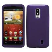 Insten® Skin Cover For LG VS920 Spectrum, Solid Dark Purple