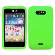 Insten® Skin Cover For LG MS770, Solid Electric Green