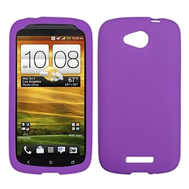 Insten® Skin Cover For HTC-One VX, Solid Electric Purple