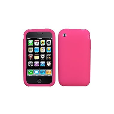 Insten® Soft Skin Case For iPhone 3GS, Hot-Pink