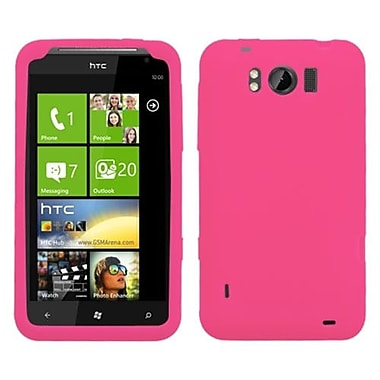 Insten® Skin Cover For HTC X310a Titan, Solid Hot-Pink