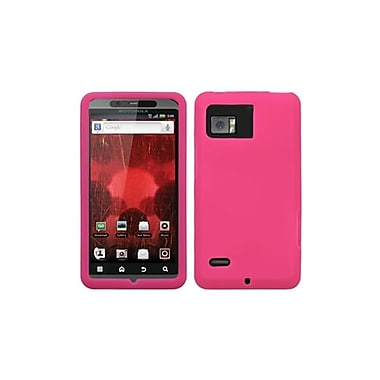Insten® Skin Cover For Motorola XT875 Droid Bionic, Solid Hot-Pink