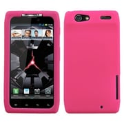Insten® Skin Cover For Motorola XT912 Droid RAZR, Solid Hot-Pink
