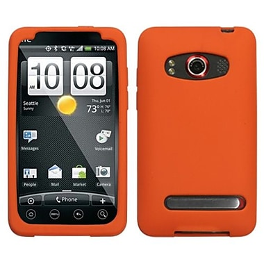Insten® Skin Cover For HTC EVO 4G, Solid Orange