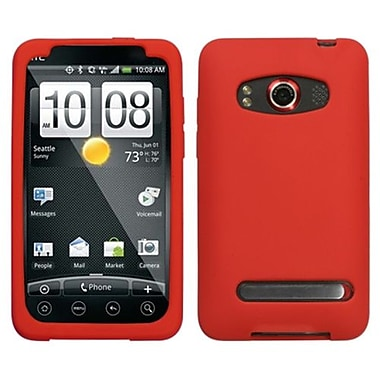 Insten® Skin Cover For HTC EVO 4G, Solid Red