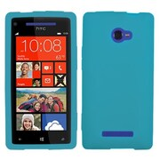 Insten® Skin Cover For HTC Windows Phone 8X, Solid Tropical Teal