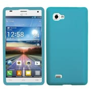 Insten® Skin Cover For LG P880 Optimus 4X HD, Solid Tropical Teal