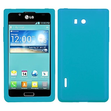 Insten® Skin Cover For LG US730 Splendor/730 Venice, Solid Tropical Teal