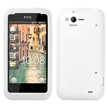Insten® Skin Cover For HTC ADR6330 Rhyme, Solid White