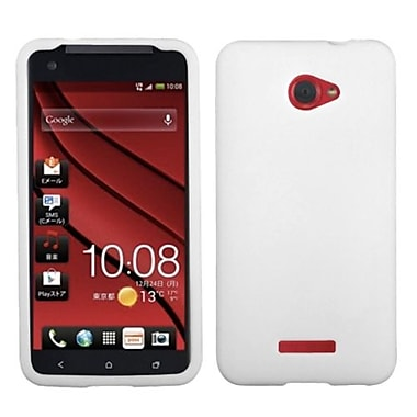 Insten® Skin Case For HTC Droid DNA, Solid Translucent White