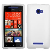 Insten® Skin Cover For HTC Windows Phone 8X, Solid Translucent White