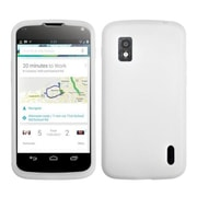 Insten® Skin Cover For LG E960 Nexus 4, Solid Translucent White