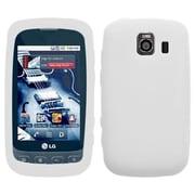 Insten® Skin Case For LG LS670 Optimus S/Optimus U/VM670 Optimus V, Solid Translucent White