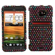 Insten® Diamante Protector Case For HTC EVO 4G LTE, Sprinkle Dots