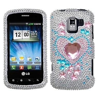 Insten® Diamante Protector Cover For LG VS700/VM701/LS700, Star Track
