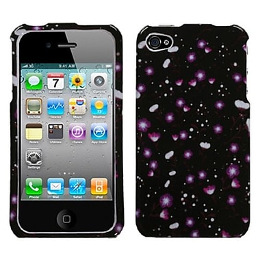 Insten® Phone Protector Cover F/iPhone 4/4S, Starburst Flower Black