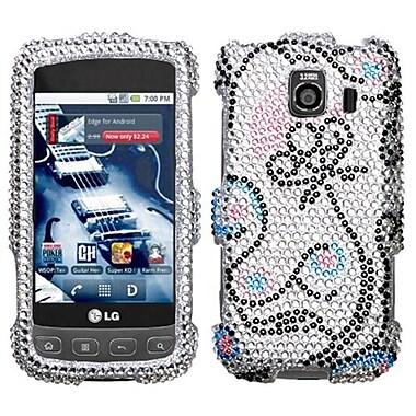 Insten® Diamante Faceplate Case For LG LS670/Optimus S, Sunny Flower