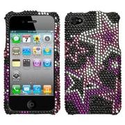 Insten® Diamante Protector Cover F/iPhone 4/4S, Super Star