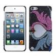 Insten® Diamante Back Protector Cover For iPod Touch 5th Gen, Swan Love Heart Mirror Premium