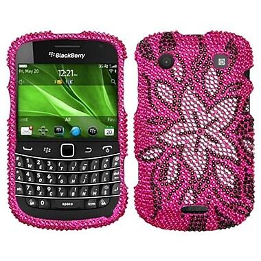 Insten® Diamante Protector Cover For BlackBerry 9930/9900, Tasteful Flowers