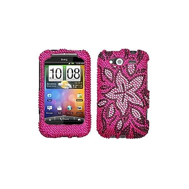 Insten® Diamante Protector Cover For HTC WildFire S GSM/WildFire S CDMA, Tasteful Flowers