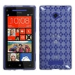 Insten® Argyle Flexible Protector Case For HTC Windows Phone 8X, Clear