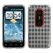 Insten® Argyle Candy Skin Cover For HTC EVO 3D/EVO V 4G, T-Clear Pane